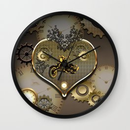Steampunk, motorcycle Wall Clock