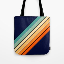 Farida - 70s Vintage Style Retro Stripes Tote Bag