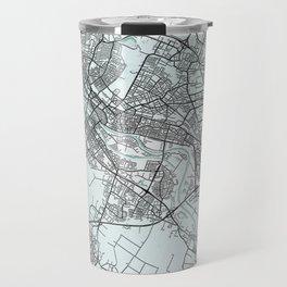 Bremen, Germany, White, City, Map Travel Mug