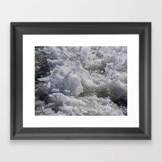 Foaming Sea Framed Art Print