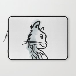 CAT SILHOUETTE WITH WATER COLOUR Laptop Sleeve