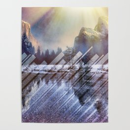 Winter Sun Rays Abstract Nature Poster