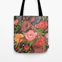 oana befort Tote Bags featuring FAWN & FLORA by Oana Befort