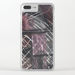 Grid lines Clear iPhone Case