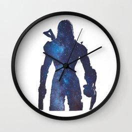 Mass effect - Space , Female Shepard  Wall Clock