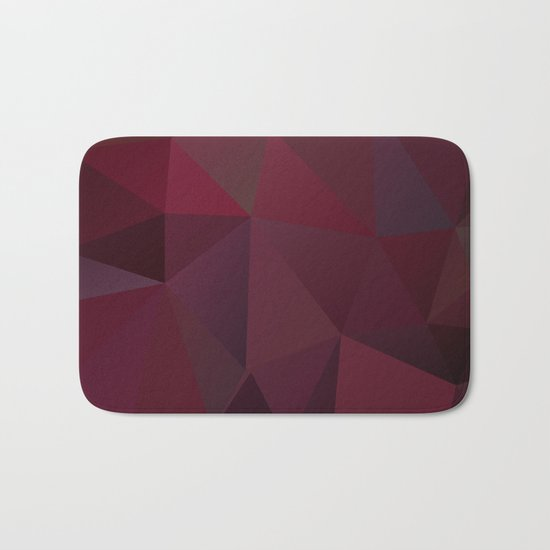 Abstract background of triangles polygon design red marsala colors Bath Mat