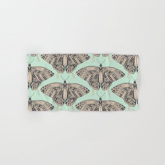 swallowtail butterfly mint basalt Hand & Bath Towel