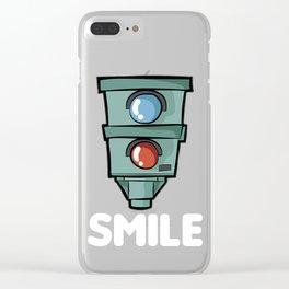 SMILE Speed Camera Speeding Speed Merchant Clear iPhone Case