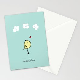 Chirp & Whistle Thinking of You Bird Stationery Cards