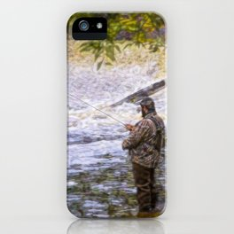 Trout fishing iPhone Case