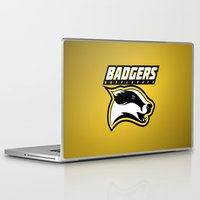 hufflepuff Laptop & iPad Skins featuring Badgers Hufflepuff  by Fresco Umbiatore
