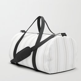 Creamy Tofu White Mattress Ticking Wide Striped Pattern - Fall Fashion 2018 Duffle Bag