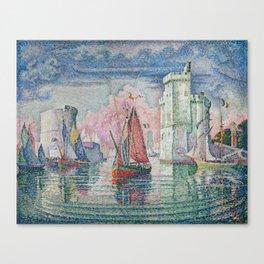 Entrance to the Port of La Rochelle Canvas Print