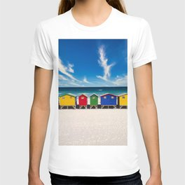 The Colorful Houses on the Beach photograph T-shirt