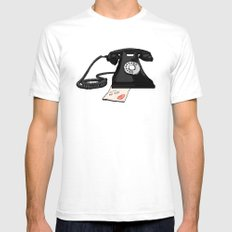 Late Call  Mens Fitted Tee SMALL White