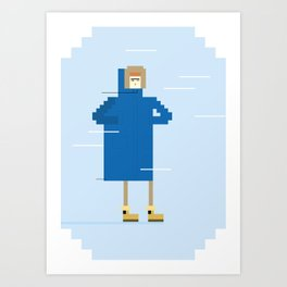Snow Guy Art Print
