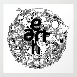 Earth with Art Art Print