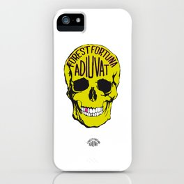 Fortune Favours The Brave. iPhone Case