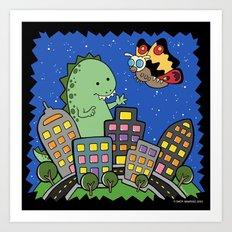 Monstrous Friendship Art Print