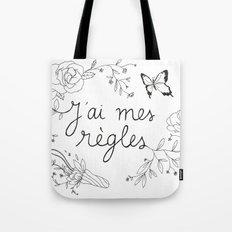 J'AI MES RÈGLES / I'M ON MY PERIOD Tote Bag