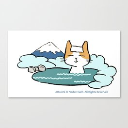 Traveling Kitty Canvas Print
