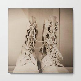 Combat Boots Metal Print