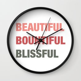 Daily mantra in orange Wall Clock