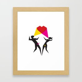 Happy Love Framed Art Print