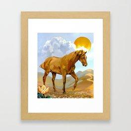 Sun King Stallion Framed Art Print