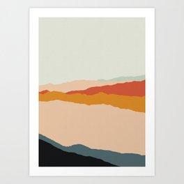 Abstract Landscape Art Print