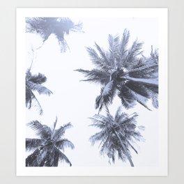 California Dreamin' in Blue Art Print