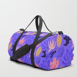 ultraviolet funny underwater plants Duffle Bag