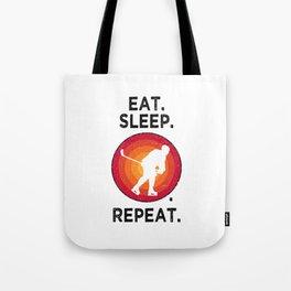 Eat. Sleep. Ice Hockey. Repeat. T Shirt Hockey Player TShirt Ice Hockey Shirt Vintage Gift Idea  Tote Bag