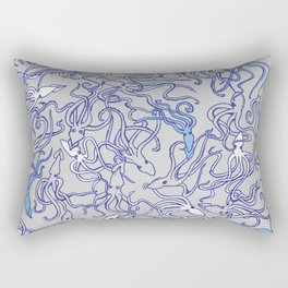 Squids of the inky ocean Rectangular Pillow