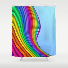 fluid -14- Shower Curtain