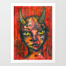 red devil Art Print