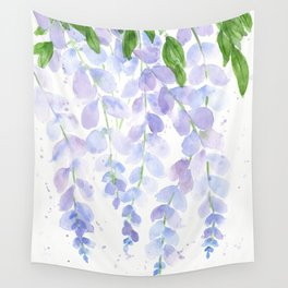 Wisteria Watercolor Print, Floral Watercolor by Liz Ligeti Kepler Wall Tapestry