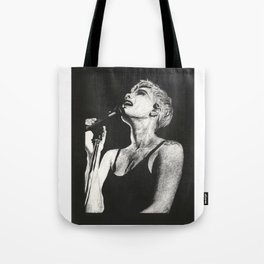 Halsey Black and White Scratchboard Tote Bag