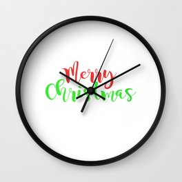 Merry Christmas - Snowflakes Wall Clock