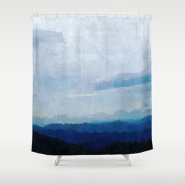 Glorious Majestic Mountains Shower Curtain