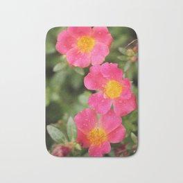 Neon Flowers Bath Mat