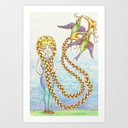hair oh so light as a feather Art Print