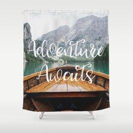 Live the Adventure - Adventure Awaits Shower Curtain