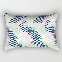 Geometric pattern in pastel mint, pink, blue colors Rectangular Pillow