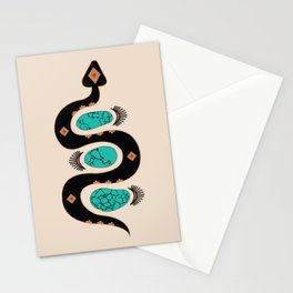 Southwestern Slither in Black Stationery Cards