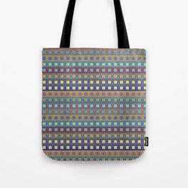 Retro Colors Geometric Stripes Tote Bag