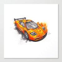 f1 Canvas Prints featuring McLaren F1  by Claeys Jelle Automotive Artwork