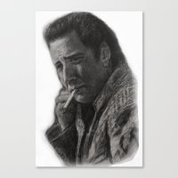 nicolas cage Canvas Prints featuring WILD AT HEART - NICOLAS CAGE by William Wong