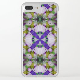 Violet Pinks Clear iPhone Case
