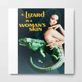 A Lizard in a Woman's skin, vintage horror movie poster Metal Print
